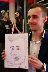 karykatury na imprezie