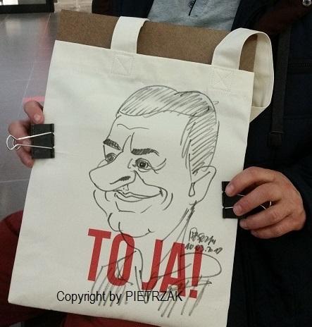 karykatury na żywo, karykatury na promocji, karykatury na imprezie, karykatury na dzień kobiet, karykatury na torbach, karykaturzysta, rysowanie karykatur