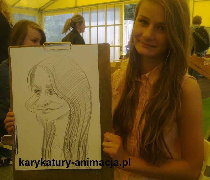 karykatury na imprezie, karykatury na żywo, karykatury z modela, karykaturzysta, rysowanie karykatur