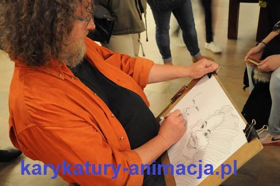 karykatury, karykatury na imprezach, karykatury ze zdjęć, karykatury na żywo, karykatury w Noc Muzeów, karykaturzysta