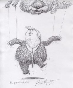 Karykatura, karykatury, Donald Trump, Władimir Putin, karykaturzysta, karykatury ze zdjęć