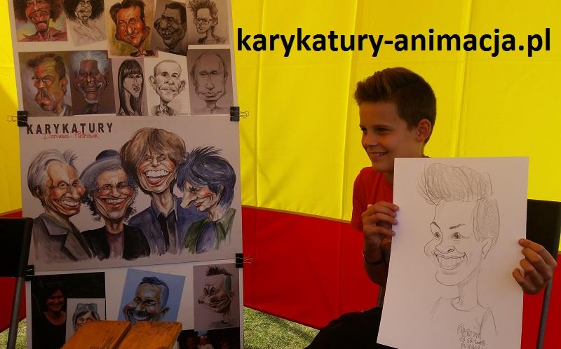 Karykatura, karykatury, karykaturzysta na pikniku, karykatury na imprezie firmowej, karykatury na żywo, szybki karykaturzysta, rysowanie karykatur