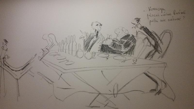 karykatura, karykatury, Kazimierz Sichulski, karykatury na imprezie, karykatury w Krakowie, karykaturzysta Kraków