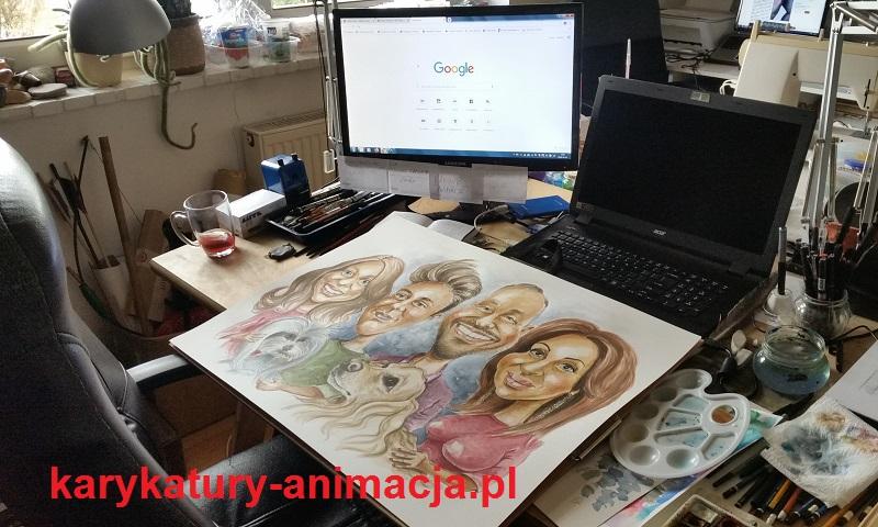 karykatura ze zdjęcia, karykatura na prezent, karykatura na zamówienie, karykatura kolorowa, duża karykatura, 70/50 cm, szybki karykaturzysta