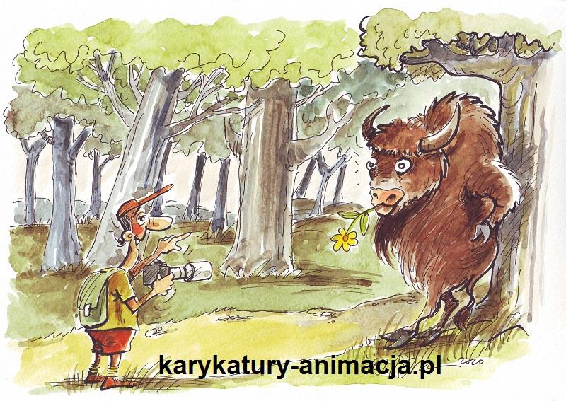 karykatury, karykatura, karykatura ze zdjęcia, karykatura kolorowa, karykatura w prezencie, humor, ochrona lasu, ekologia, karykaturzysta