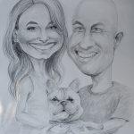 Karykatura na rocznicę ślubu
