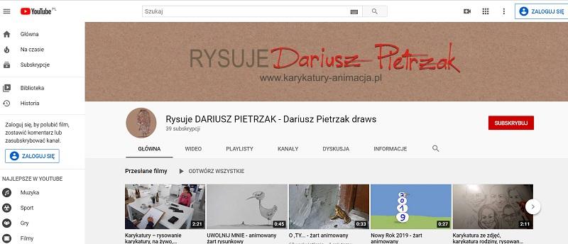 rysowanie karykatur, filmy karykaturzysty, karykatury i film rysunkowy, animacja karykatur, karykatury Dariusz Pietrzak
